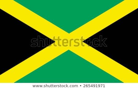 Zászló Jamaica illusztráció fehér felirat zöld Stock fotó © Lom