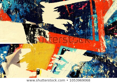 torn paper paint stains Stock photo © sirylok