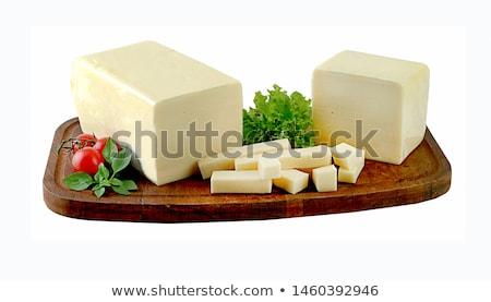Mozzarella queso aislado blanco alimentos frescos Foto stock © karandaev