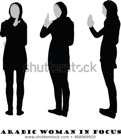 Arabic woman silhouette in focus pose Stock photo © Istanbul2009
