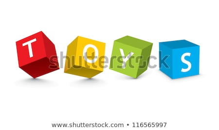 Buttons with toy blocks Stock photo © bluering