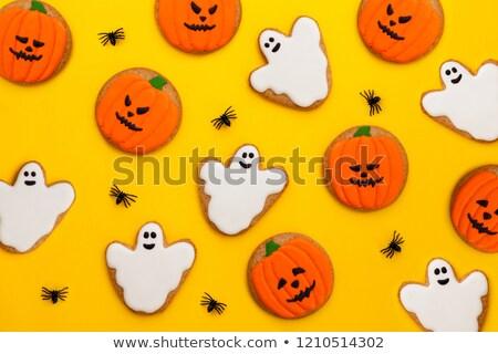 Friss ijesztő halloween kekszek véres agy Stock fotó © lidante