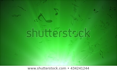music notes fly out from bottom stock photo © klss