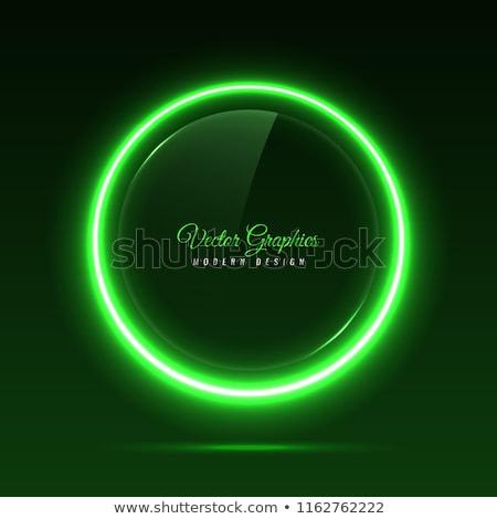 Izzik zöld neon vektor gyűrű fényes Stock fotó © saicle