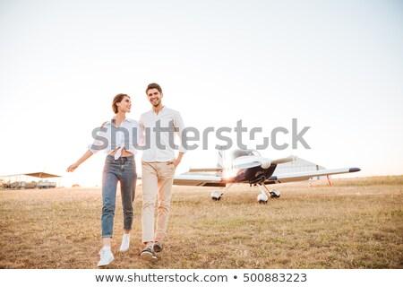 uçak · iki · sanayi · düzlem · bilet - stok fotoğraf © deandrobot