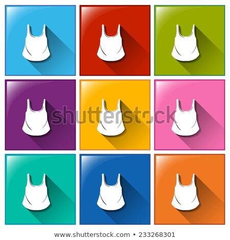 Buttons with sleeveless upper wear Stock photo © bluering