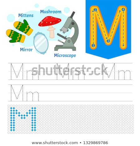 A letter M for microscope Stock photo © bluering
