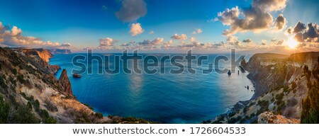 Longa exposição pôr do sol costa praia sol natureza Foto stock © lucielang