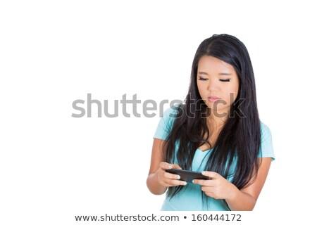 Aislado teléfono móvil blanco telecomunicaciones comunicación Foto stock © MaryValery