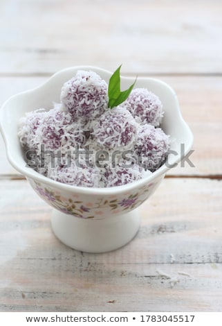 homemade coconut cake stock photo © user_11224430