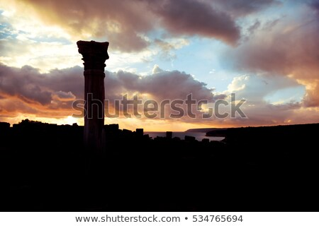 silhouette of an ancient kourion limassol district cyprus stock photo © kirill_m
