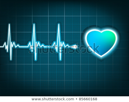 Blue heart beat. Ekg graph. EPS 8 Stock photo © beholdereye