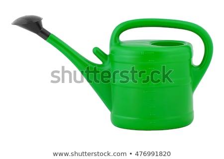 groene · plastic · kan · geïsoleerd · object · cap - stockfoto © luissantos84