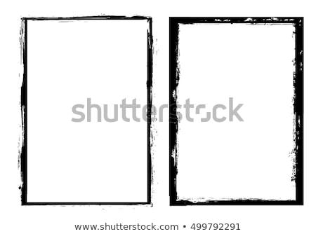 grunge · frontera · detallado · blanco · negro - foto stock © kjpargeter