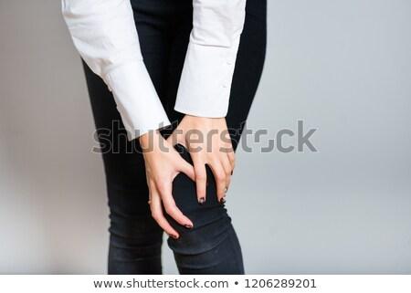 Kobieta szorty ręce dance studio Zdjęcia stock © dash