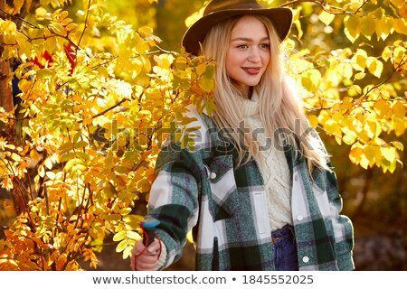 Attractive blond woman posing in the jungle Stock photo © konradbak