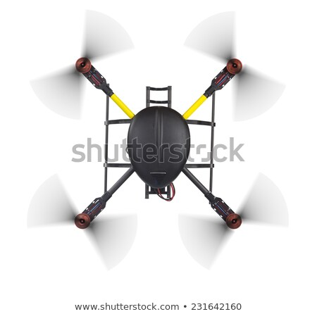 Quad copter drone from top Stock photo © 5xinc