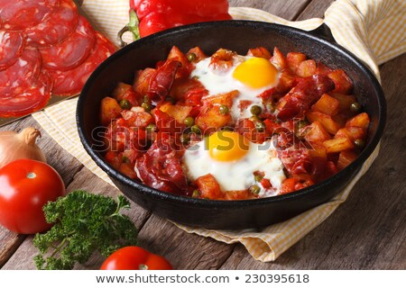 Yumurta iç sebze sebze yemek Stok fotoğraf © monkey_business