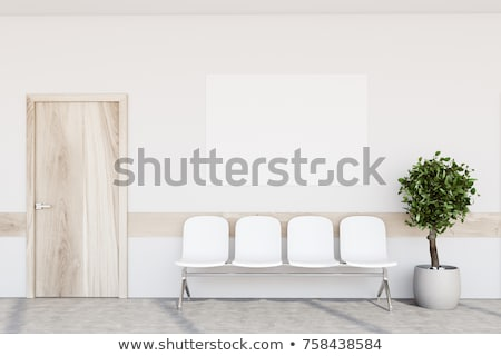 Foto stock: Moderna · sala · de · espera · interior · vacío · madera · dura