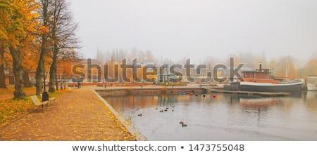 ボート · 曇った · 水 · 海 · 海 - ストックフォト © estea