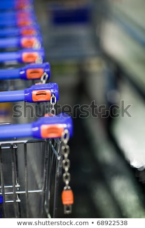 supermatket trolleys (shallow DOF) Stock photo © lightpoet
