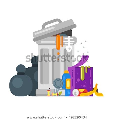 Сток-фото: вектора · стиль · иллюстрация · мусор · продовольствие · икона