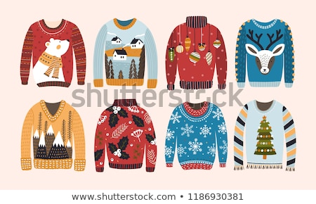 Vector cartoon style illustration of ugly sweater. Stock photo © curiosity