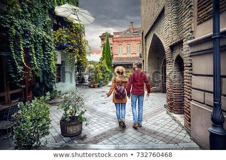 romantische · buiten · gebouw · man · stad - stockfoto © tekso