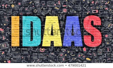 IDAAS Concept. Multicolor on Dark Brickwall. Stock photo © tashatuvango