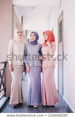 beautiful muslim fashion girl stock photo © zurijeta