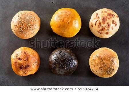 high angle view of various burgers stock photo © wavebreak_media