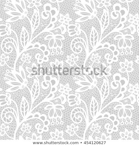 Floral Pattern Wedding Bride Silhouette Stock photo © Krisdog