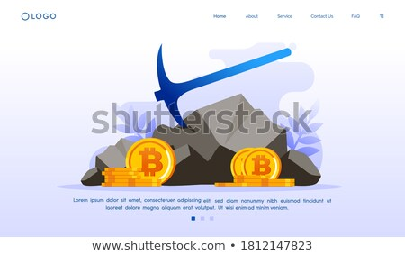 digital bicoins currency vector background Stock photo © SArts