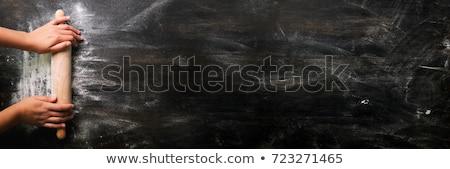 Gasztronómiai étel űr asztal hús sötét Stock fotó © yelenayemchuk