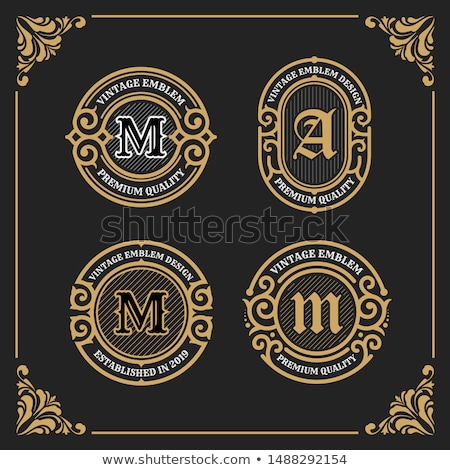 lujo · placa · etiqueta · emblema · diseno · vector - foto stock © SArts