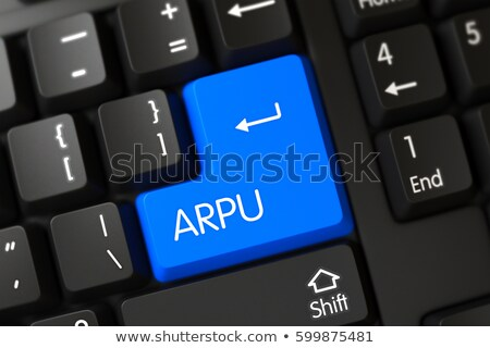 Arpu CloseUp of Blue Keyboard Keypad. 3D. Stock photo © tashatuvango