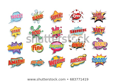 sweet comic word Stock photo © studiostoks