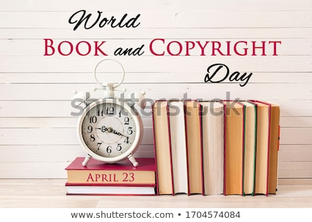 Dünya kitap telif hakkı gün takvim tebrik kartı Stok fotoğraf © Olena