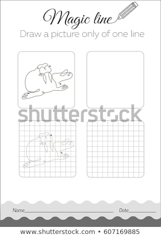 Draw a picture only of one line seal, walrus Stock photo © Olena