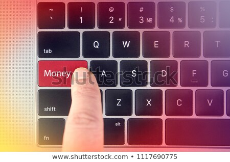 Finger Presses Red Keyboard Button Wealth. Stock photo © tashatuvango
