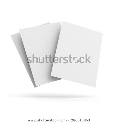стороны · бумаги · вентилятор · вектора · набор · моде - Сток-фото © rogistok