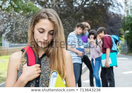Teens Gossip Stock photo © lenm
