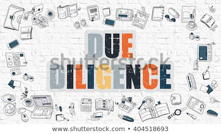 Due Diligence Concept with Doodle Design Icons. Stock photo © tashatuvango