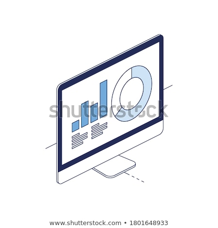 Laptop Screen with Monitoring and Reporting Concept. 3d. Stock photo © tashatuvango