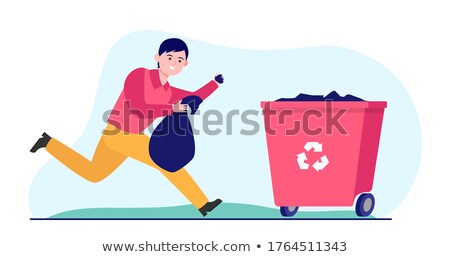 A business man carrying a recycle bin Stock photo © IS2