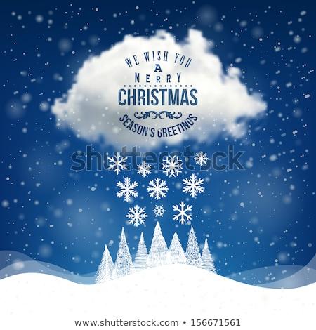 Mavi Noel kar bulut gökyüzü Stok fotoğraf © romvo