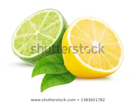 citroen · kalk · geïsoleerd · witte · Geel - stockfoto © digitalr