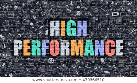 high performance concept multicolor on dark brickwall stock photo © tashatuvango