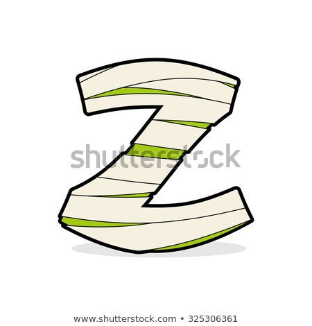 Letter Z Egyptian zombies. Mummy ABC icon coiled medical bandage Stock photo © popaukropa