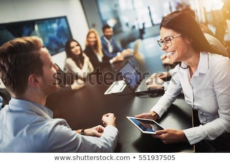 グループの人々  会議 表 会議 ガラス ビジネスマン ストックフォト © IS2
